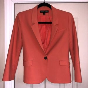 Elizabeth and James Cropped Blazer in Coral